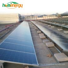 Uso comercial o uso en el hogar Sistema de energía solar Material de acero inoxidable Sistema de montaje de matriz solar