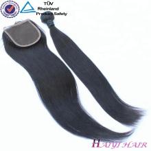 Cheap Virgin Indian Hair 4x4 Free Part Parte media 3 parte de cierre de encaje