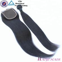 Дешевые девственницы Индийские волосы 4 x 4 бесплатно часть средняя часть 3 часть кружева закрытие