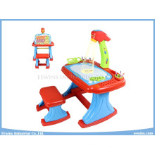 Study Toys Electronic Projector Desk Double-Sided Learning Easel Projector Education Toys