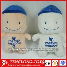 Personalizada y lindo muñeca de juguete de peluche de cabeza grande para los niños