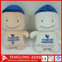 Customized and cute big head plush toy doll for children