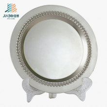 Custom 22cm Blank Silver Logo Metal Commemorate Plate for Souvenir Gift