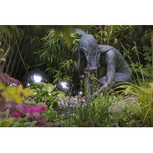 parc thème grandeur nature statue en métal femme nue bronze sculpture