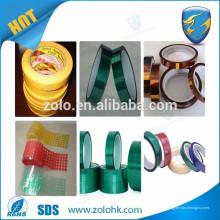 5PCS P50mm * 10M * 0.13mm alta resistencia Withstand, cinta del Teflon del PTFE del aislamiento eléctrico, personalizan el corte Accepetable de la anchura