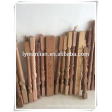 Venta caliente producciones balaustres de madera decorativos / diseños de balaustres de madera / nariz de escalera decorativa