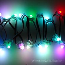 12 mm cuadrados DMX rgb cambio de color led dmx tira árbol de navidad luz