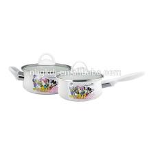 küchengerät, beste verkauf küche werkzeug joyshaker emaille topf mit glasdeckel