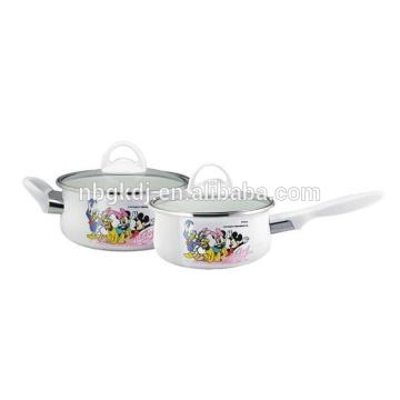 kitchen utensil,best sell kitchen tool joyshaker enamel pot with glass lid