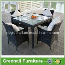 Rattan Gebraucht Restaurant Tisch und Stuhl