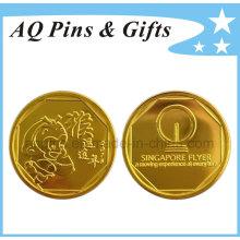 2016 Sorte macaco plástico moeda com chapeamento de ouro & cápsula