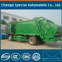 Camion à ordures de compression de camion de Sinotruk HOWO de main gauche