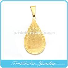 Banhado a ouro novo design christian aço inoxidável corrosão san benito pingente religiosa Santo mãe Maria pingente TKB-P003