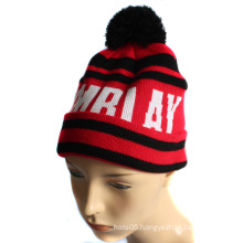Jacquard Knitted Hat with POM-POM