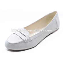 White color good quality loafers modern women flats shoe office lady shoe