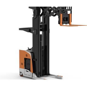 Double deep rack narrow aisle reach truck