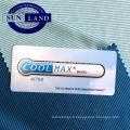 évacuation de l'humidité, tissu interlock en tricot double face anthracite et charbon de bois coolmax
