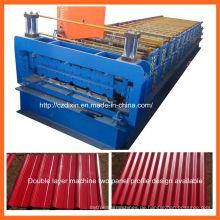 Dx-Doppelschicht-Farbstahlblech-Dach-Platten-Rolle, die Maschine bildet