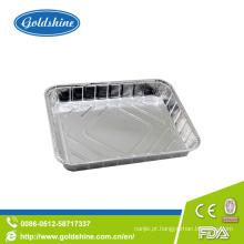 Bandejas de alumínio da folha do assado do produto comestível