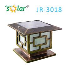 Casquillos del poste clásico puerta solar, luz solar del jardín, tapas de aluminio post solar