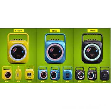 6.5 Inch Yellow Colorful Bluetooth Speaker with Mic for Stage F105