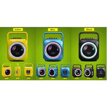 6.5 дюймовый желтый цветной Bluetooth-динамик с микрофоном для сцены F105