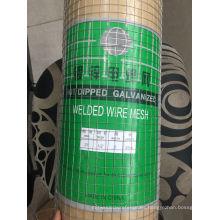 Malla de alambre soldada con autógena galvanizada agujero cuadrado de alta calidad
