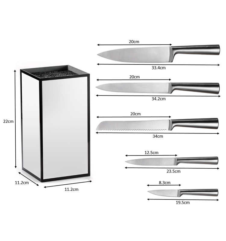 Hollow Handle Knife Set with Stand