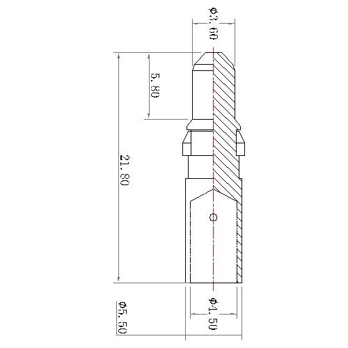 CP11M-C1X 5 POWER PIN CRIMP MALE CONTACT 40A(work in coaxial)