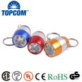 Mini Pocket Torch Keychain Light 6 White LED Egg Flashlight