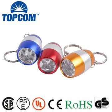 Mini-Taschen-Taschenlampe Keychain Light 6 weiße LED-Ei-Taschenlampe