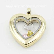 Novo Design personalizado de aço inoxidável jóias coração Locket Pingente