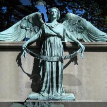 Decoración de jardín escultura de jardín de metal estatuas de ángel