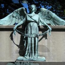 Yard décoration métal jardin sculpture ange statues