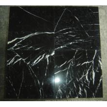 Azulejo de mármol blanco y negro chino Nero Marquina