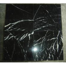 Китайская черно-белая мраморная плитка Nero Marquina