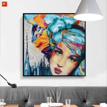 Women Face Portrait Pop Decorative Oil Painting