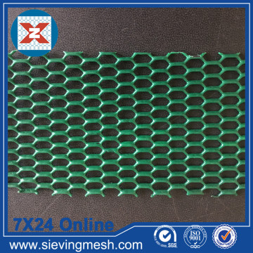 Шестиугольная расширенная металлическая сетка с покрытием из ПВХ