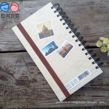 40k Espiral Winding Elastic Meeting Journal Notebook com Linha