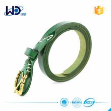 2016 Уникальная золотая пряжка Зеленые кожаные ремни