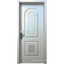 Modern design arched top panel and bottom shutter design house door