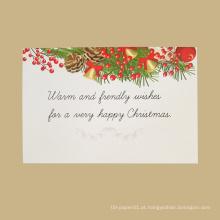 Cartões de Natal criativos feitos a mão feitos a mão da impressão do cumprimento do Natal da boa qualidade por atacado