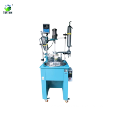100l Multi-function Batch Single Layer Glass Chemical Reactor Price