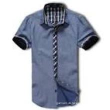 Art- und Weiseart 100% Baumwollmänner nehmen passendes Kleid-Hemd ab