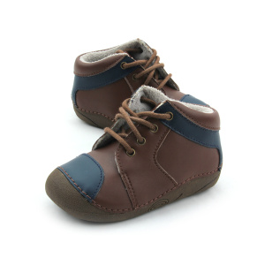 Wholesles Hard Rubber Sole Leather Baby Sportskor