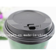 Paper Cup Lid Cover (black styrene travel lid) -Pcl-6