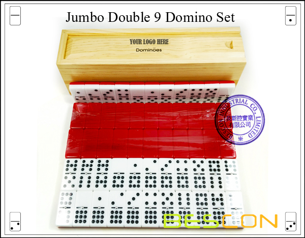 Jumbo Double 9 Domino Set