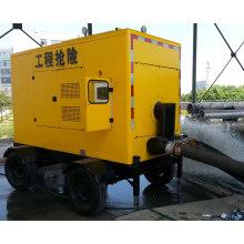 Pompe silencieuse diesel de remorque de l'eau de poubelle