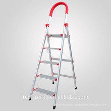 Folding Ladder Five Steps Wide Step Ladder Stand Aluminum Domestic Step Ladder