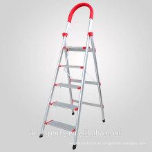Escada de dobramento escada de etapa larga de alumínio do suporte da escada de etapa de cinco etapas